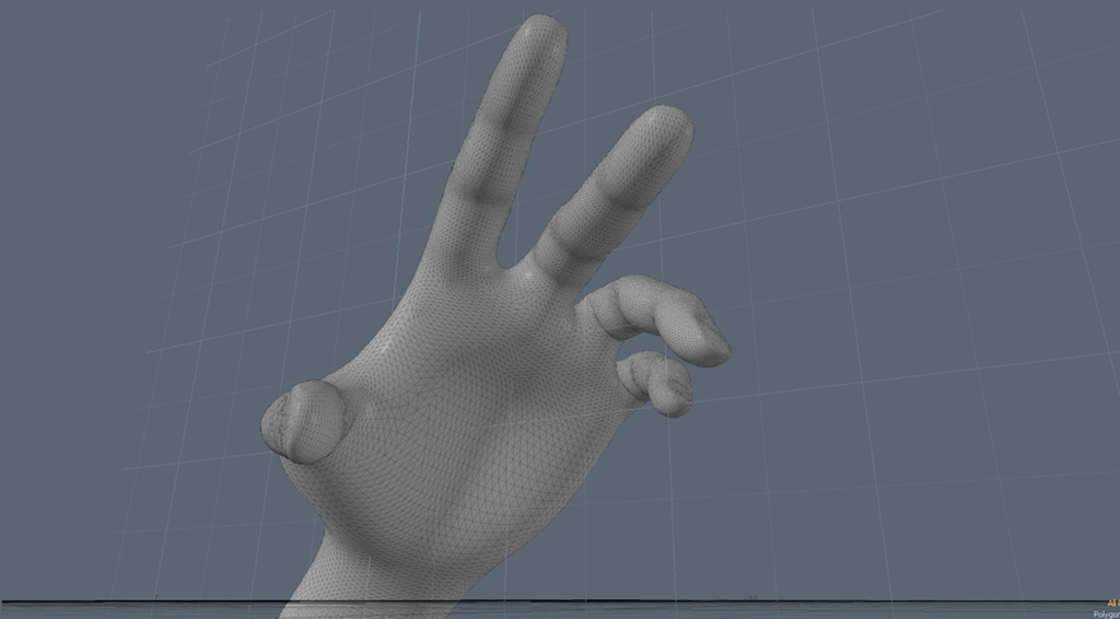 This model is very smooth - but all those triangles would be really cumbersome to work with directly!