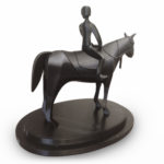 3D Printed Horse & Jockey for Sibling Connections - Back