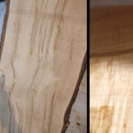 Wood starting condition and knot.